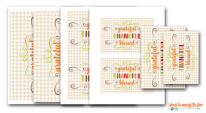 Free Grateful Thankful Blessed Prints