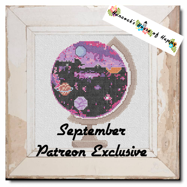 galaxy globe cross stitch design