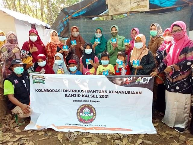 Kolaborasi GOW Tala dan ACT-MRI Kalsel untuk Penyintas Bencana di Pelaihari
