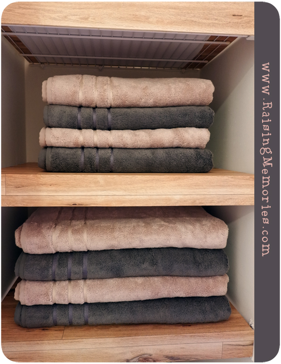 Fake Floating Shelves and Soft Bamboo Towels Giveaway