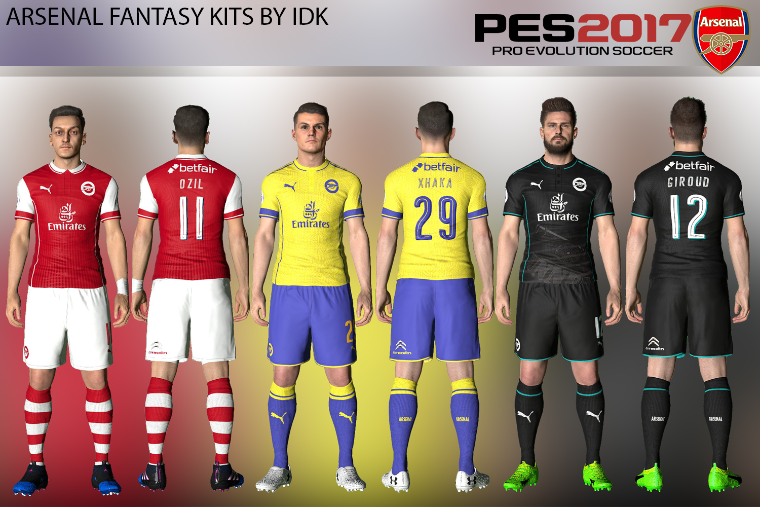 Rate Some More Fantasy Kits! : Gunners