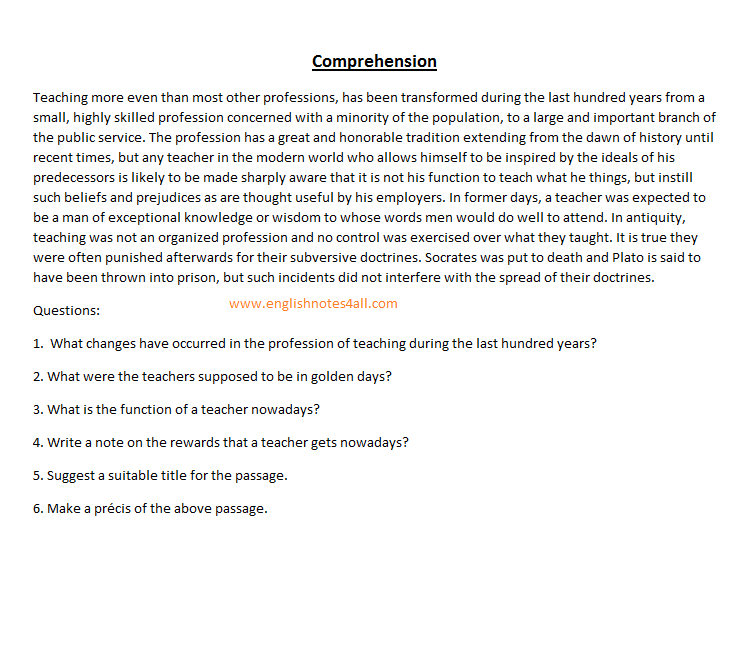 how to solve comprehension?