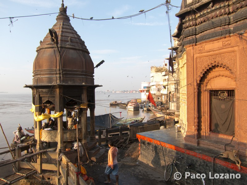 From a cremation site in Varanasi