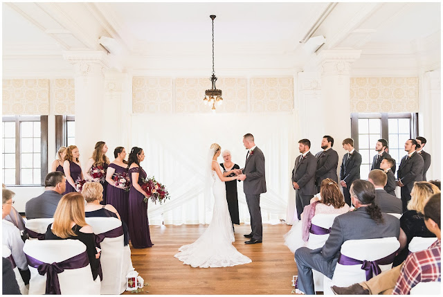 wedding ceremony in Le Fer Ballroom, West Terre Haute IN