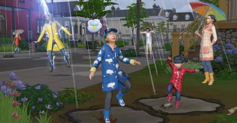 How to use an umbrella in The Sims 4: And The Four Seasons