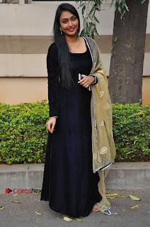 Actress Grace Myrtle Pos in Black Anarkali Dress at Beep Short Film Press Meet  0009.jpg