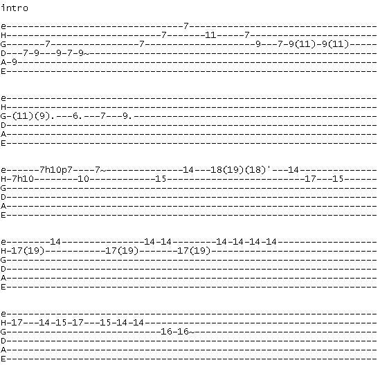 Guitartabmaker Santana Corazon Espinado Tab Solos