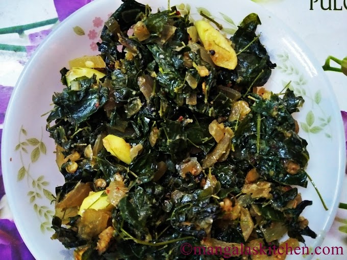 Murungai Keerai Poriyal with Peanuts  | Drumstick Leaves Stir Fry
