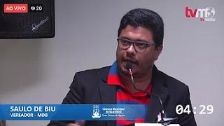 """EM RELAÇÃO À CIP: Estão querendo implantar um """"terrorismo"""" em Guarabira, detona vereador do MDB"""
