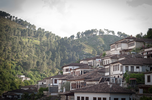 The white houses of Berat, Albania