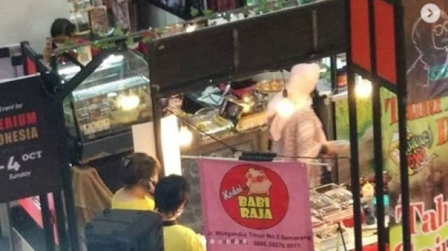 Festival Hijab di Kota Semarang Jual Makanan Daging Babi, Muslim Mualaf Geram