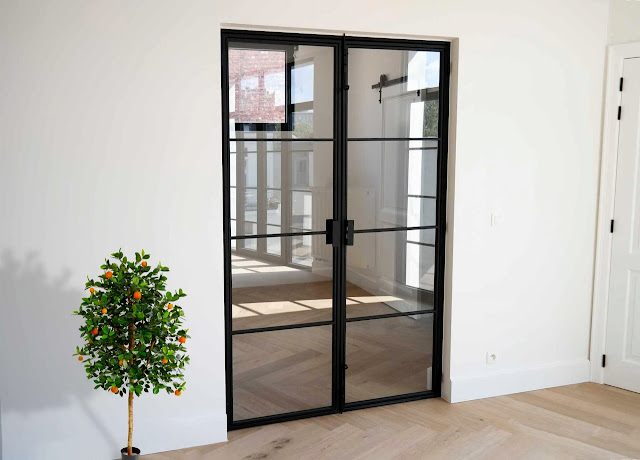 Loft glass doors