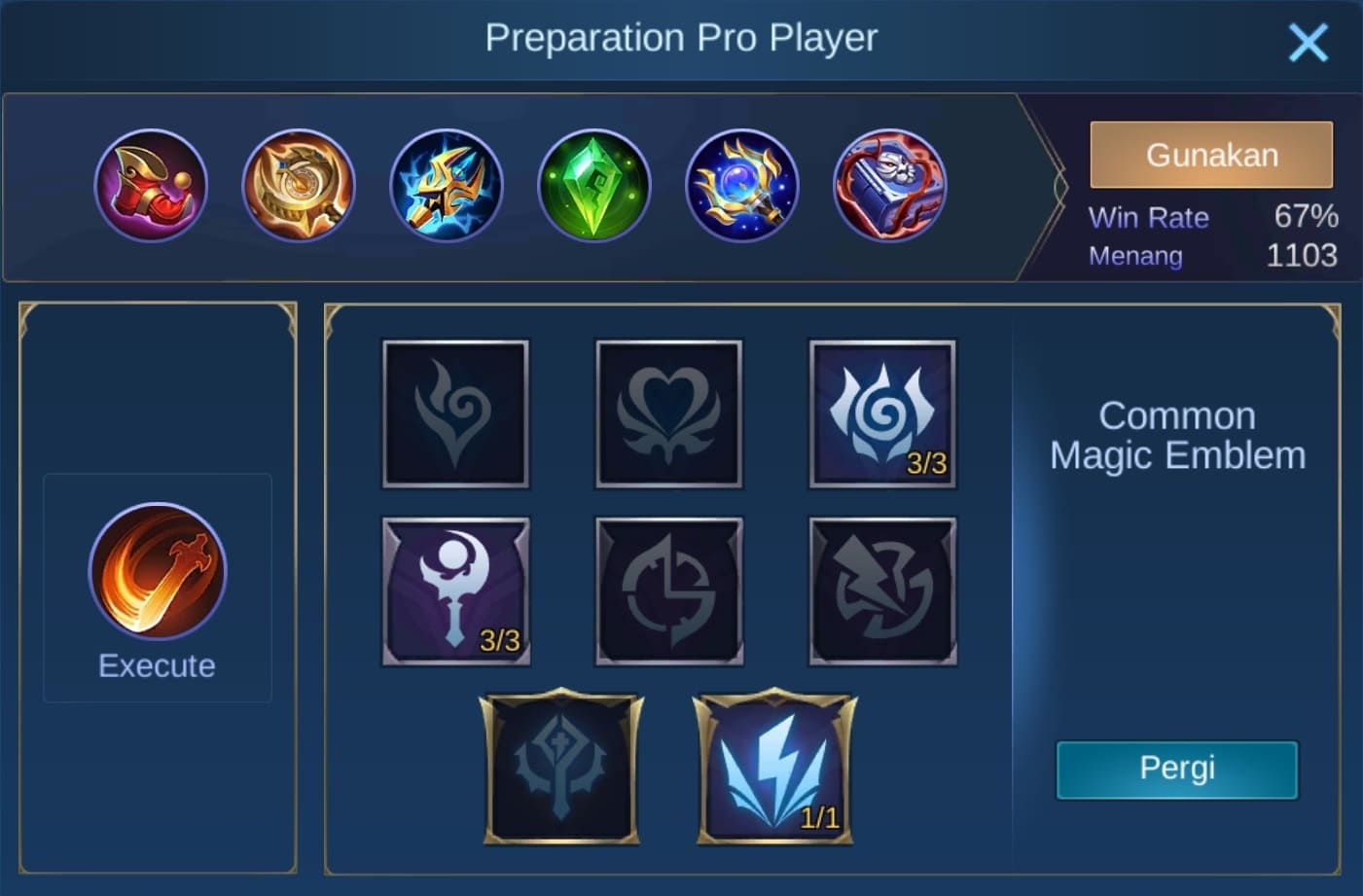build item faramis mobile legends (ML)