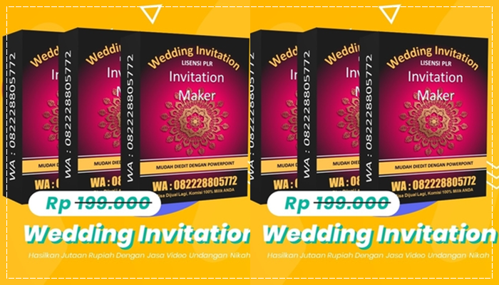 Wedding Invitation Maker Lisensi PLR