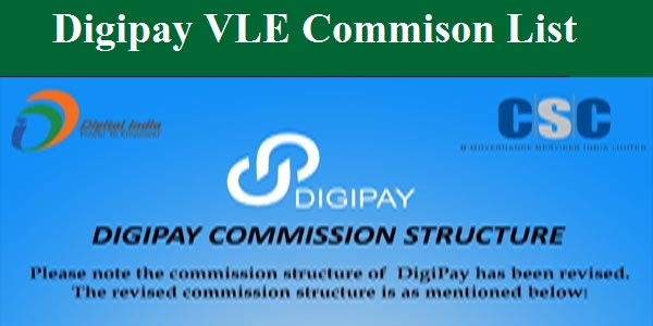 Digipay New Commision List Details March - 2020