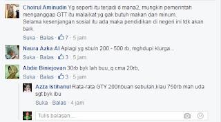 Inilah Curhatan Gaji Guru Tidak Tetap (GTT) Beserta Tanggapan Netizen