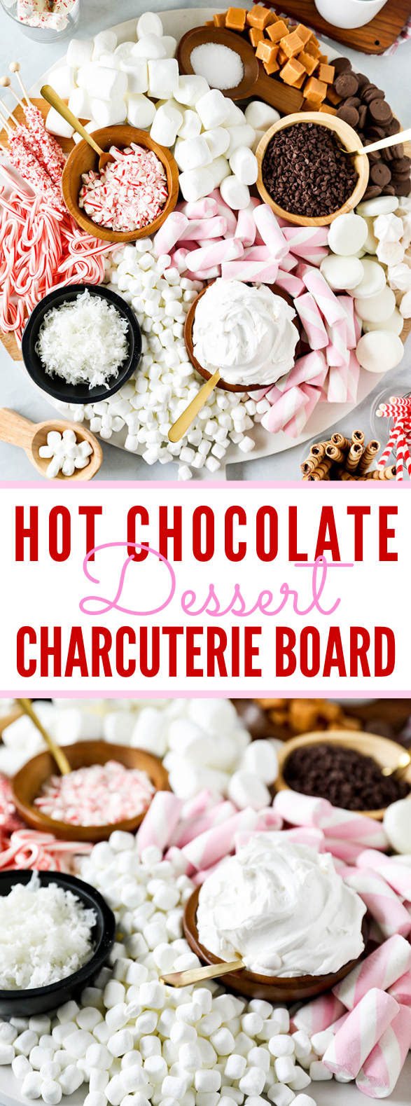 HOT CHOCOLATE DESSERT CHARCUTERIE BOARD #sweets #yummy