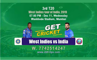 Who will win Today 3rd T20 Match Ind vs Wi - Cricfrog