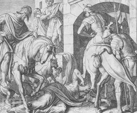 Jezebel fell to her death, and Jehu's horses trampled over her.