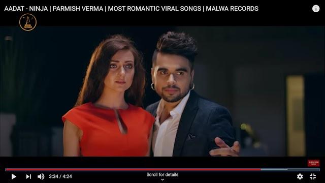 Aadat  Lyrics - Ninja Full Song |  Punjabi Song