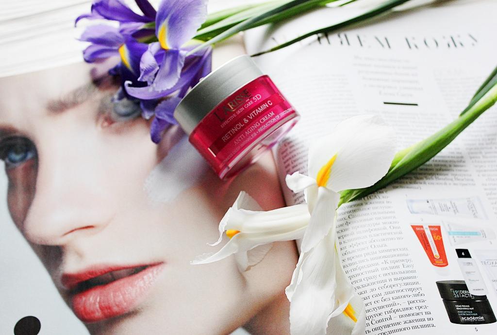 Крем с ретинолом и витамином С 50+ Ava Laboratorium L'Arisse 5D Anti-Wrinkle Cream Retinol + Vitamin C / обзор, отзывы