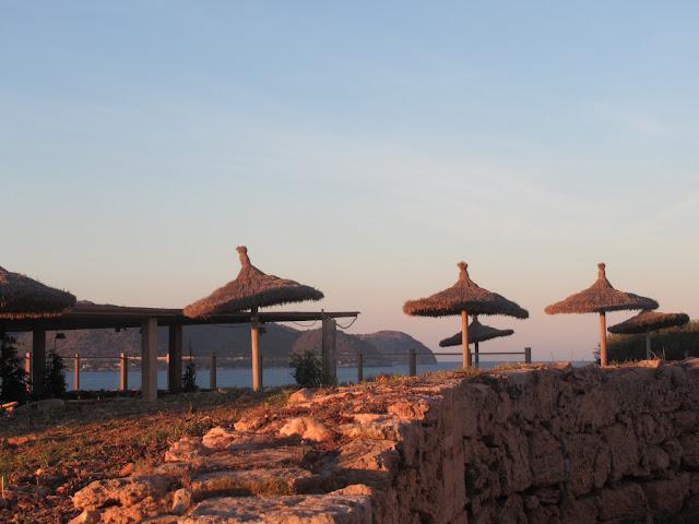 Halbinsel Punta de n'Amer auf der Baleareninsel Mallorca - die Gaststätte