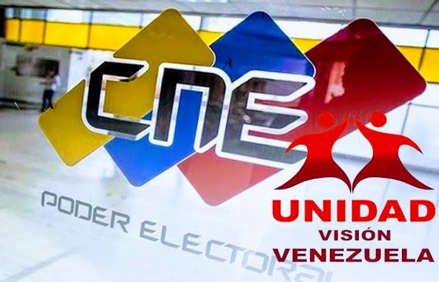Juan D. Villa Romero: CNE: habiliten a Unidad Visión Venezuela