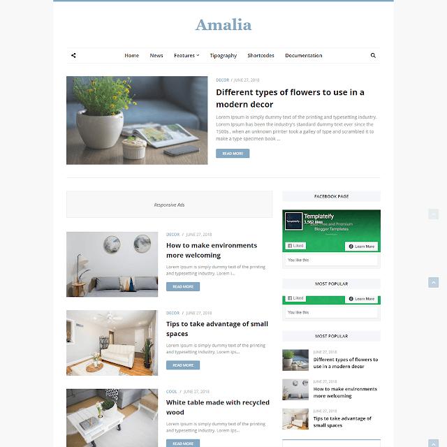 Mẫu Blogger của Amalia