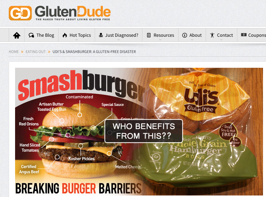 Udis Smashburger Fail Gfree Test