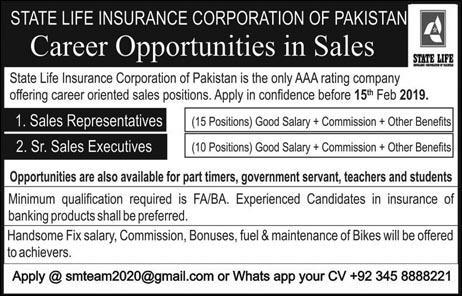 State Life Insurance Corporation of Pakistan Jobs 2019 | Online Registration