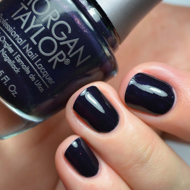 black purple creme nail polish