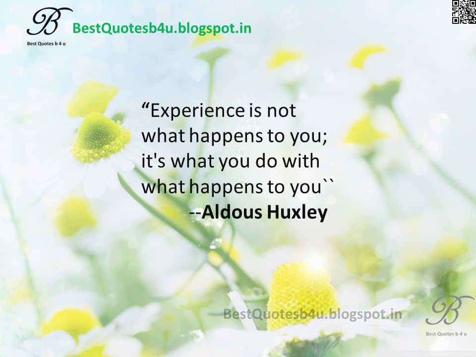 Best Inspiratonal life quotes about Experience in English from Aldos Huxley with beautiful Images and Hd Wallpapers