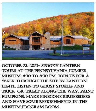 10-23 Spooky Lantern Tours, PA Lumber Museum