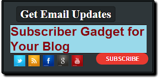 How to add subscriber button on blogger