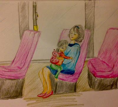 motherhood mom daughter Drawing art doodle sketch