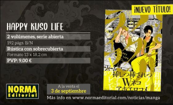 Happy Kuso Life licenciado por Norma Editorial.