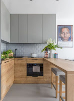 Contemporary U-shaped kitchen furniture idea