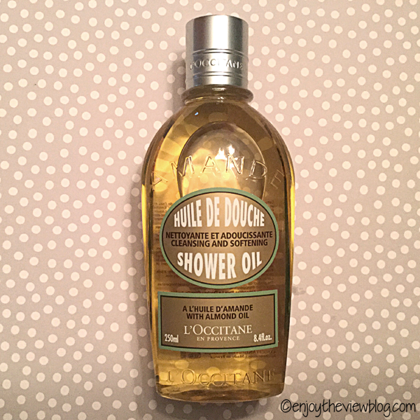 bottle of L'Occitane Almond Shower Oil