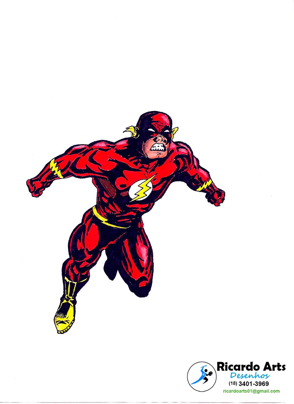 Desenho Do Flash Galeria Ricardo Arts
