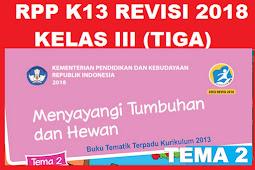 RPP KELAS 3 TEMA 2 SD/MI KURIKULUM 2013 REVISI 2018