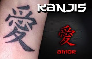 Tatuaje de kanji-palabra-amor
