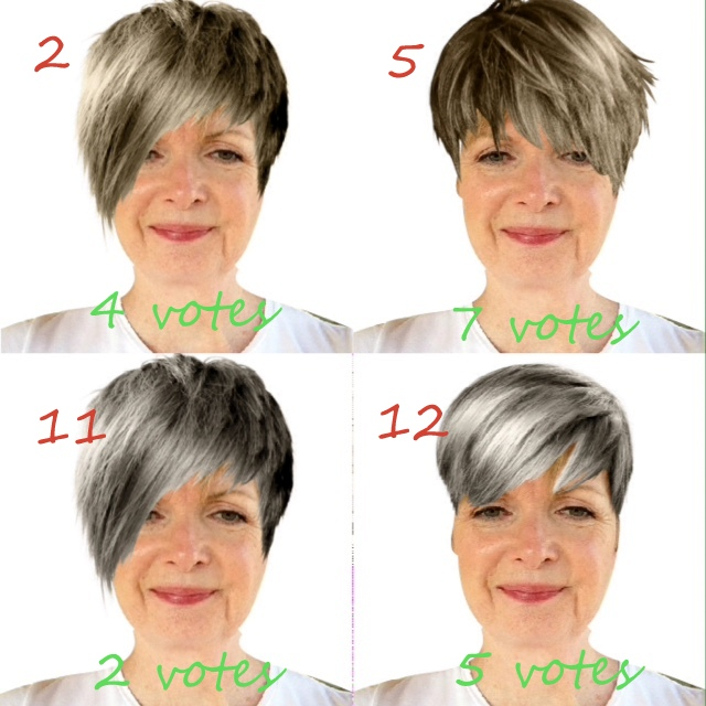 my choices for grey hair looks