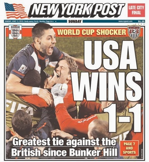 new york post sports pages fail greatest tie against the british since bunker hill