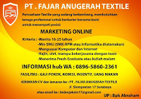 Karir Surabaya di PT. Fajar Anugerah Textile Agustus 2020