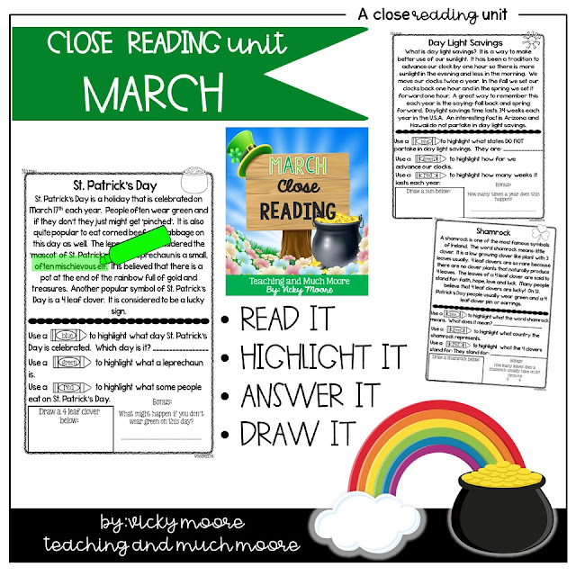 March Close Reading distant learning