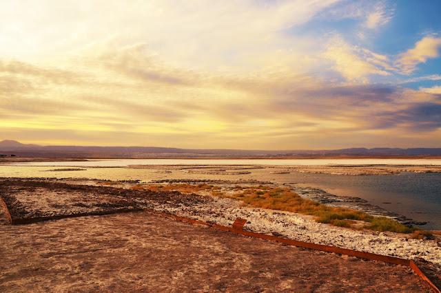 A mudança de cores no horizonte - Laguna Tebinquiche
