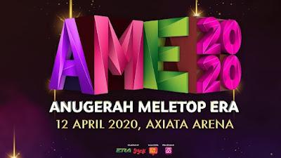 Live Streaming Anugerah MeleTOP Era 2020 AME Online