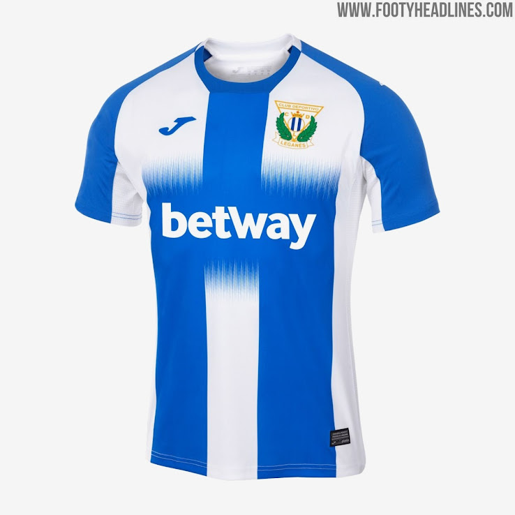 2d876ecc4 A fresh look for the La Liga club, the Leganés 2019-2020 home jersey  consists of three white-blue stripes that are connected through a gradient  in the ...