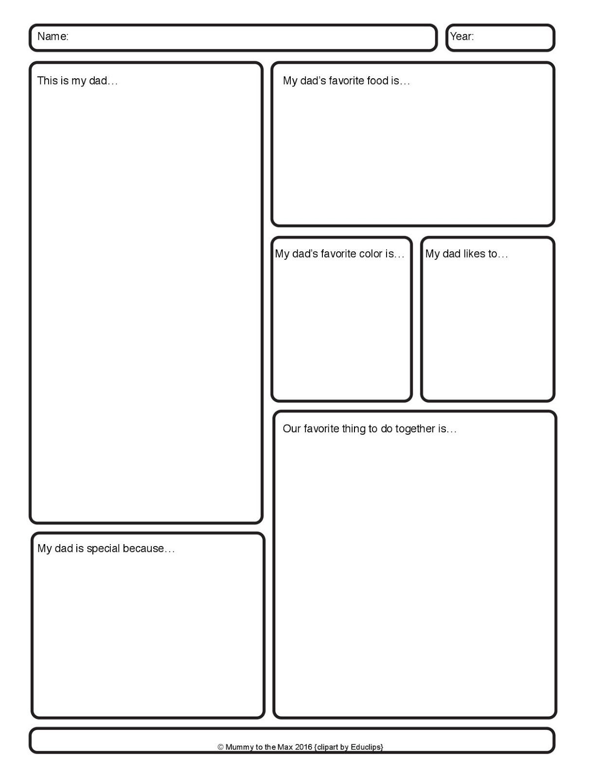 My Dad Worksheet Amp Free Printable
