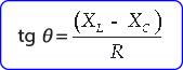 Rumus beda sudut fase arus dan tegangan rangkaian seri RLC